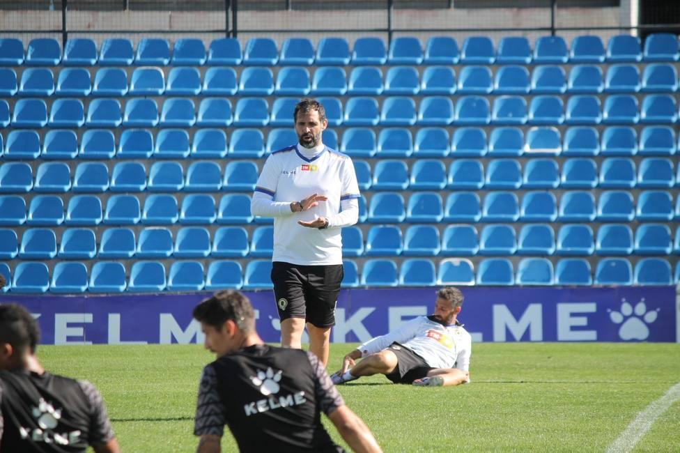 El entrenador del Hércules Jesús Muñoz (HCF)