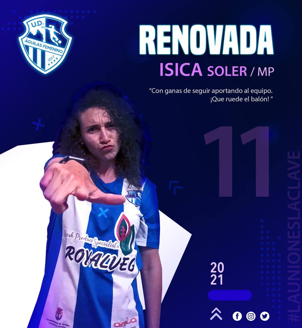 Isa Soler renueva en la UD Águilas Femenina