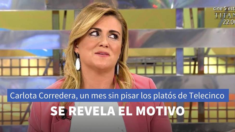 El motivo por el que Carlota Corredera ha estado un mes sin pisar los platós de Telecinco