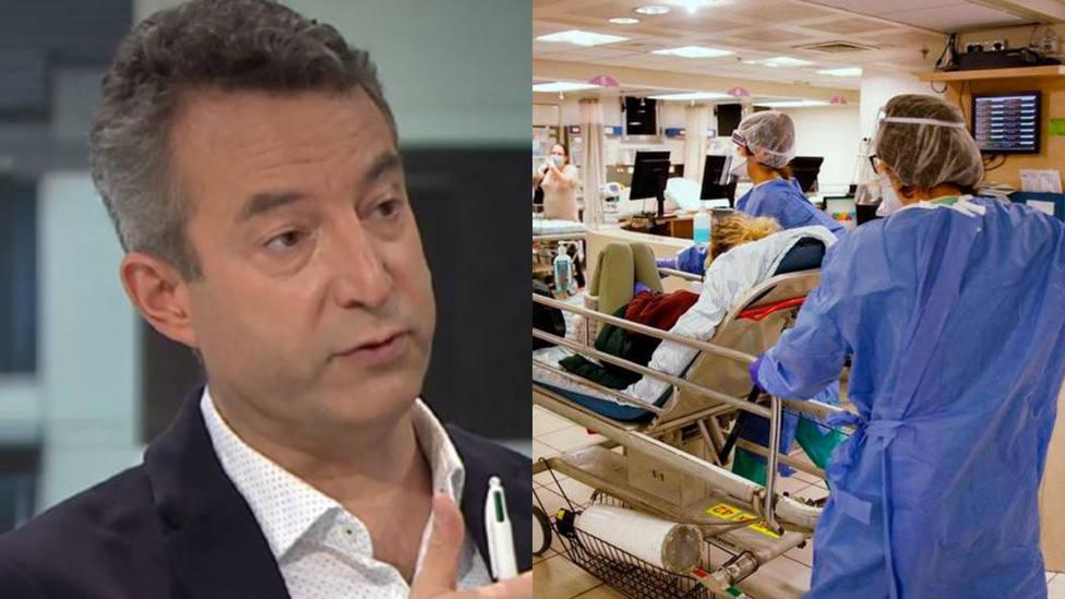 La imagen con la que el doctor César Carballo advierte de la situación de los hospitales: Que sea puntual
