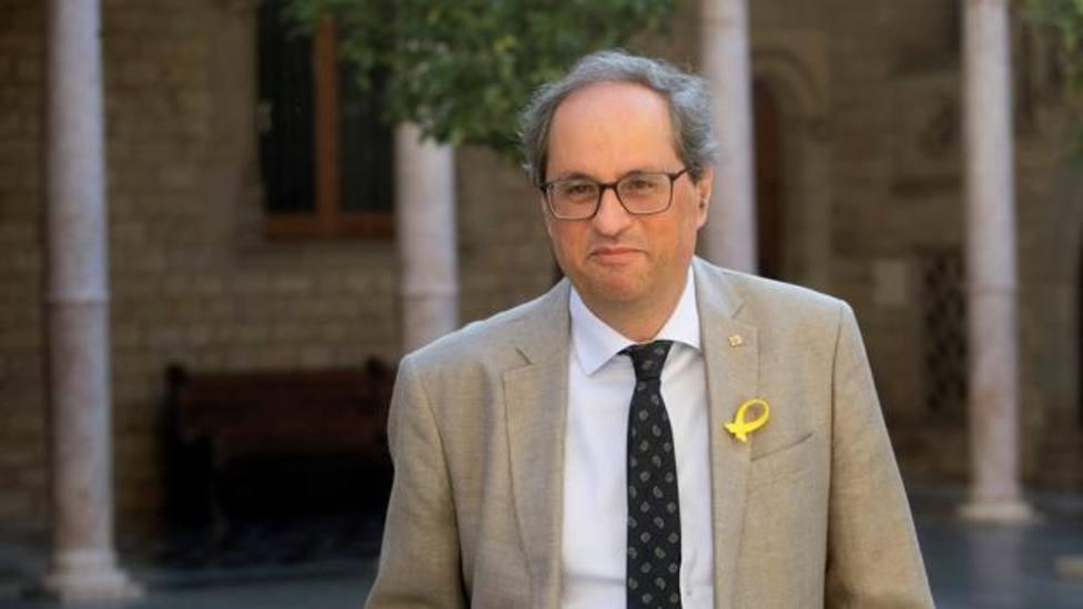 El expresident de la Generalitat, Quim Torra