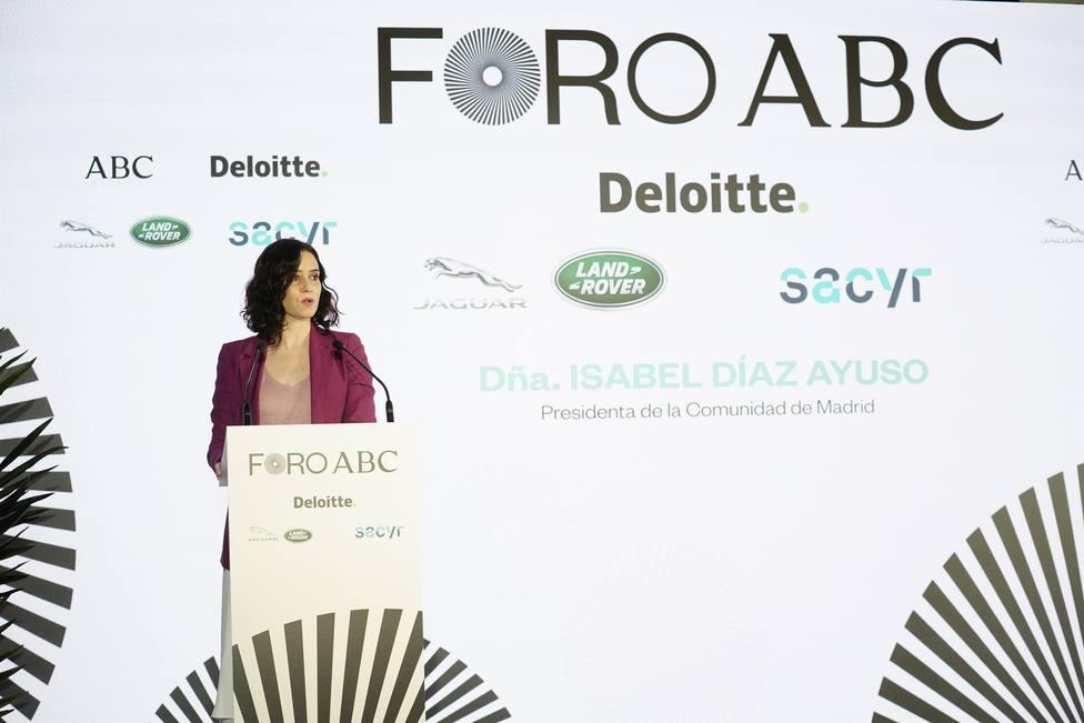 Isabel Díaz Ayuso interviene en el Foro ABC
