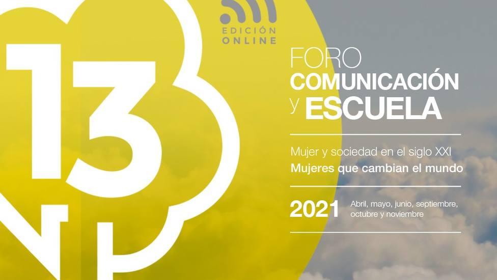 Cartel online del XIII Foro Comunicación y Escuela