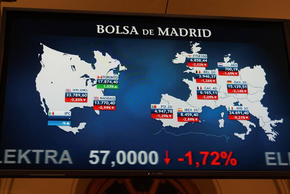Día intenso en la Bolsa de Madrid