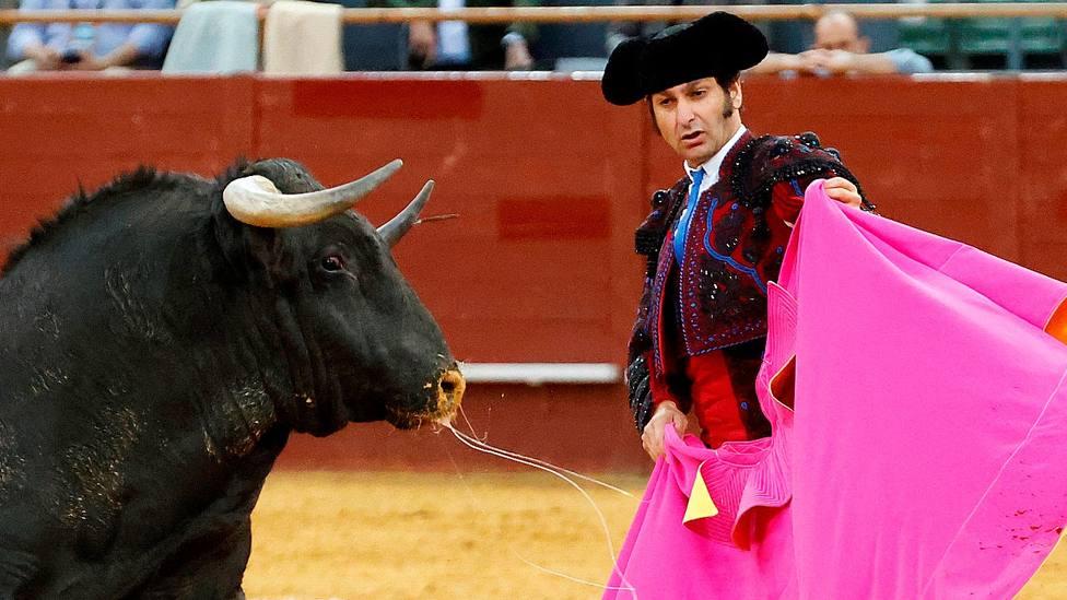 Morante de la Puebla durante su actuación este sábado en el Palacio Vistalegre