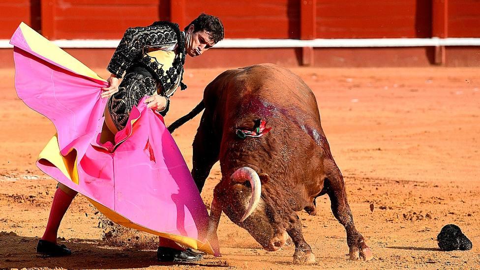 Media verónica de Daniel Luque durante su actuación este domingo en Aranjuez
