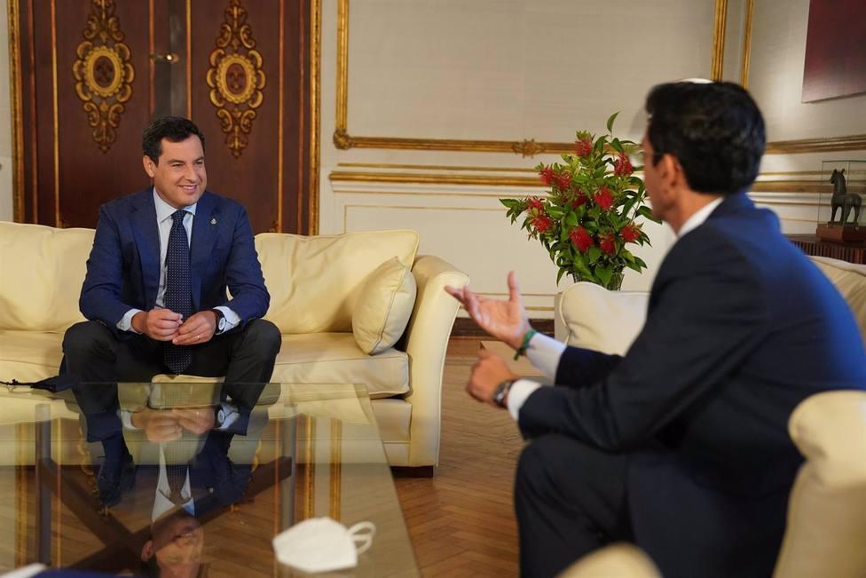 Reunión Juanma Moreno y Paco Cuenca
