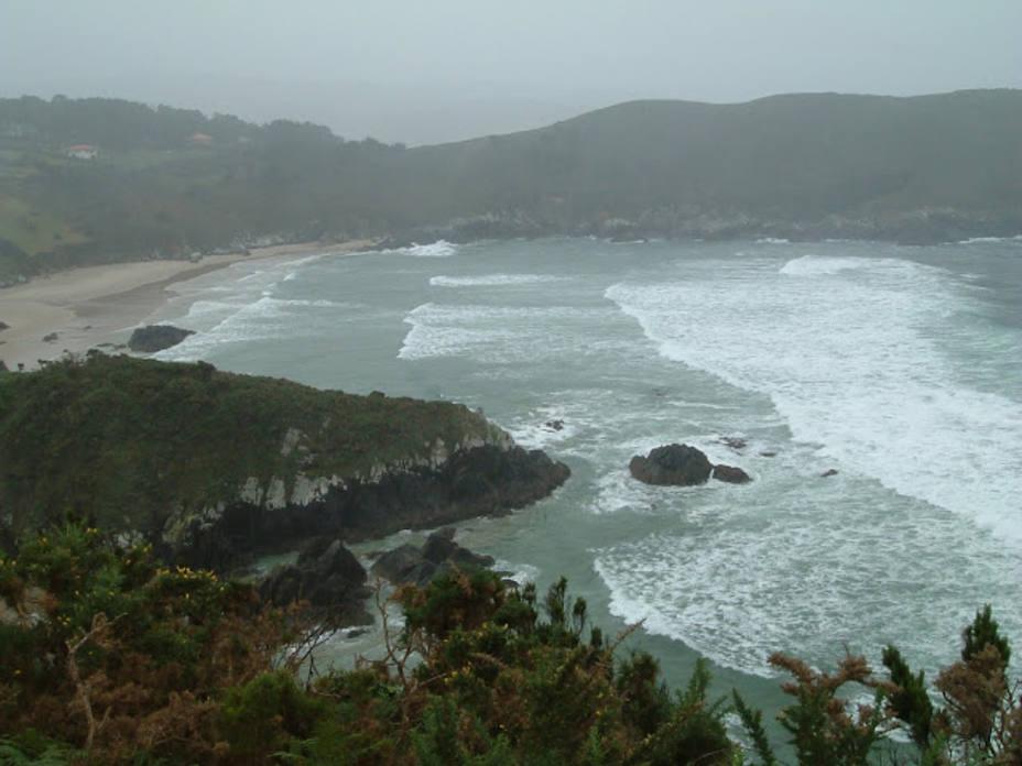 Playa de O Baleo en el concello de Valdoviño