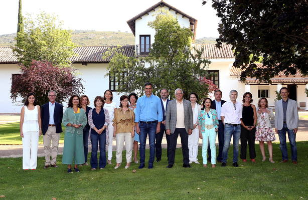 Spanish PM Pedro Sanchez meets with his cabinet in a country house