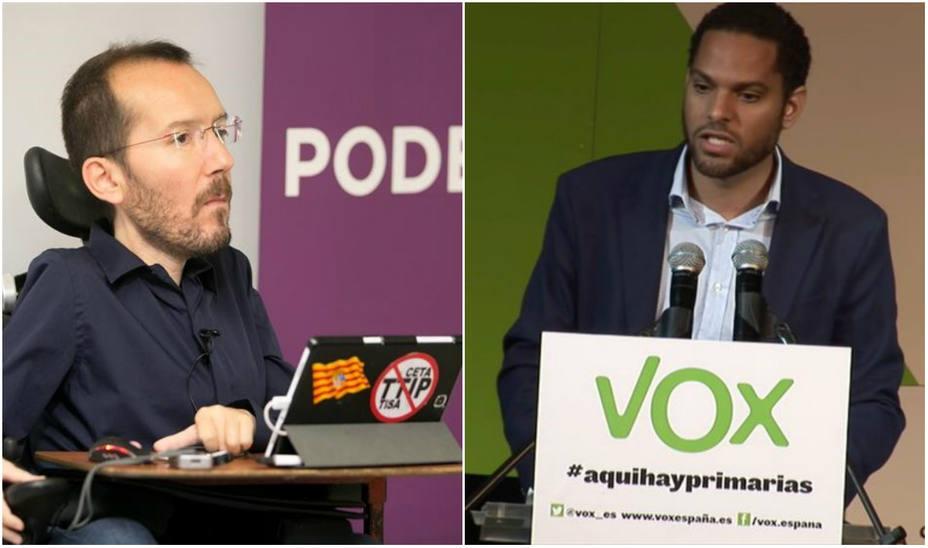 El portavoz de raza negra de Vox responde a Echenique al relacionarlo con el Ku Klux Klan