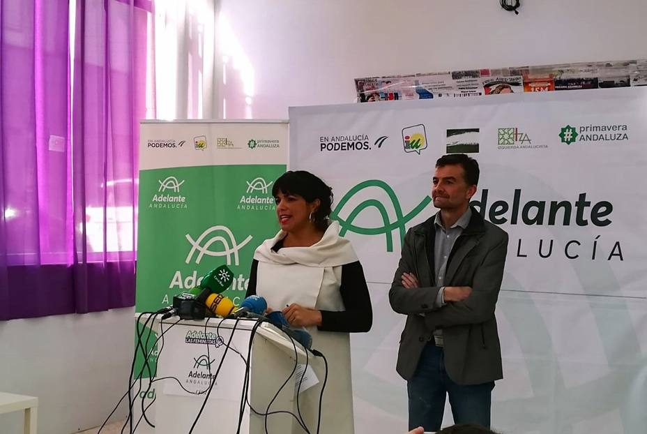 Adelante Andalucía no veta a nadie como candidatura alternativa y dice que Susana Díaz no es el problema
