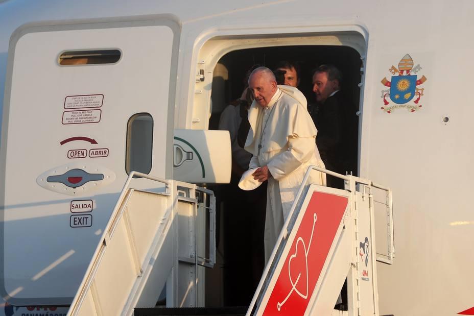 El papa Francisco abandona Panamá tras su participación en la JMJ