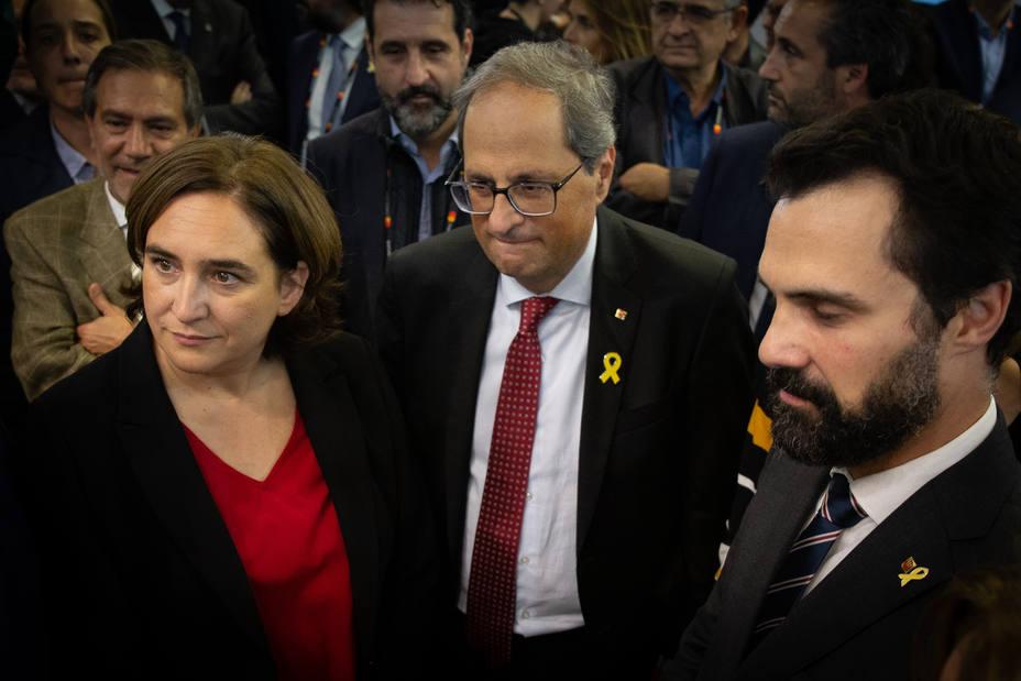 Torra, Aragonès, Torrent y Colau se desplazarán a Madrid durante el juicio del 1-O