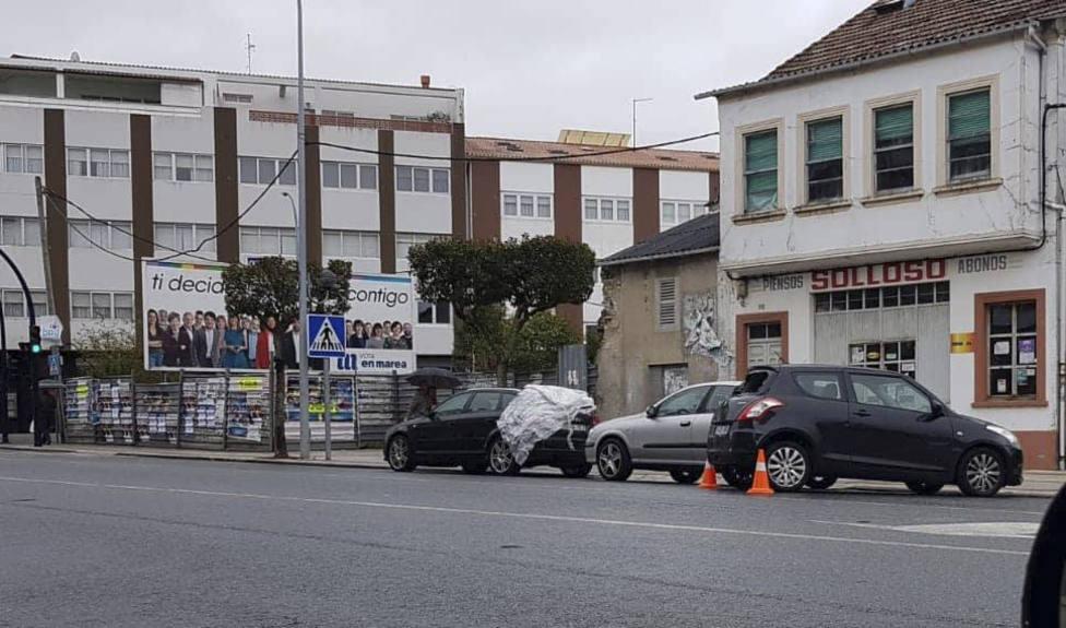Estado en el que quedaron los vehículos afectados - FOTO: Tráfico Ferrolterra