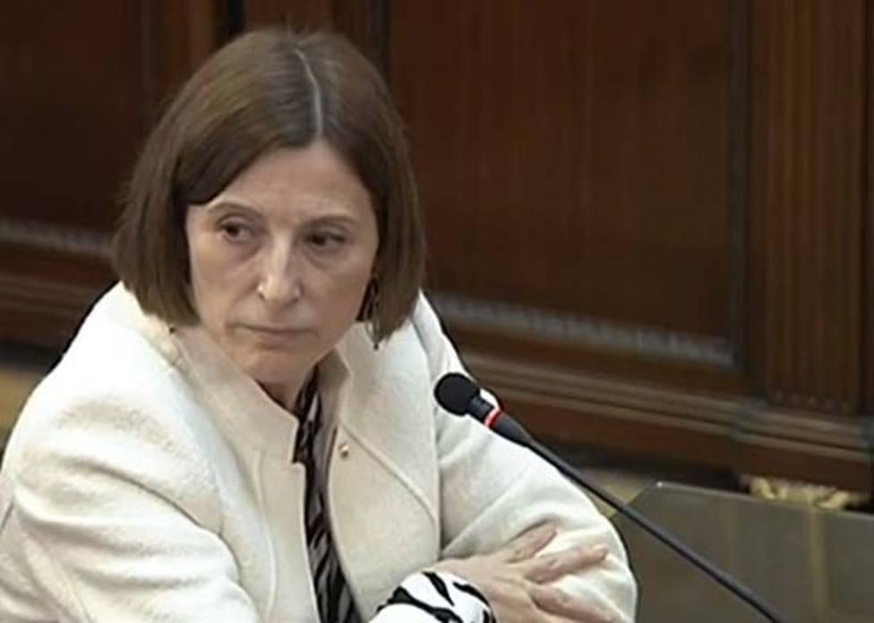 La expresidenta del Parlament Carme Forcadell declara en el Supremo durante el juicio al procés