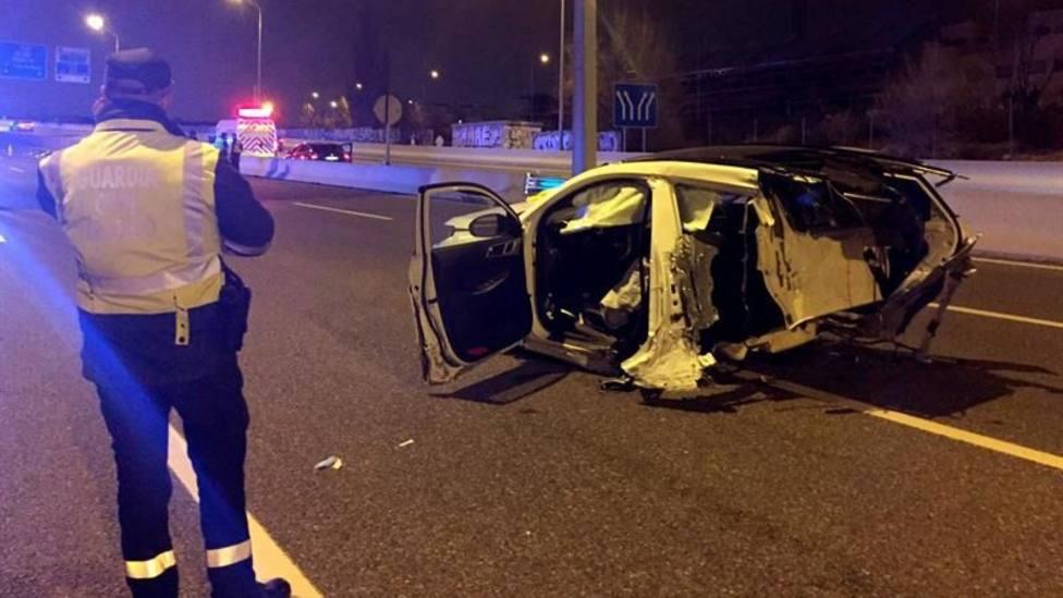 Muere un conductor kamikaze en Gijón tras circular a 200 km/h y deja hospitalizados a dos niños de 4 y 5 años