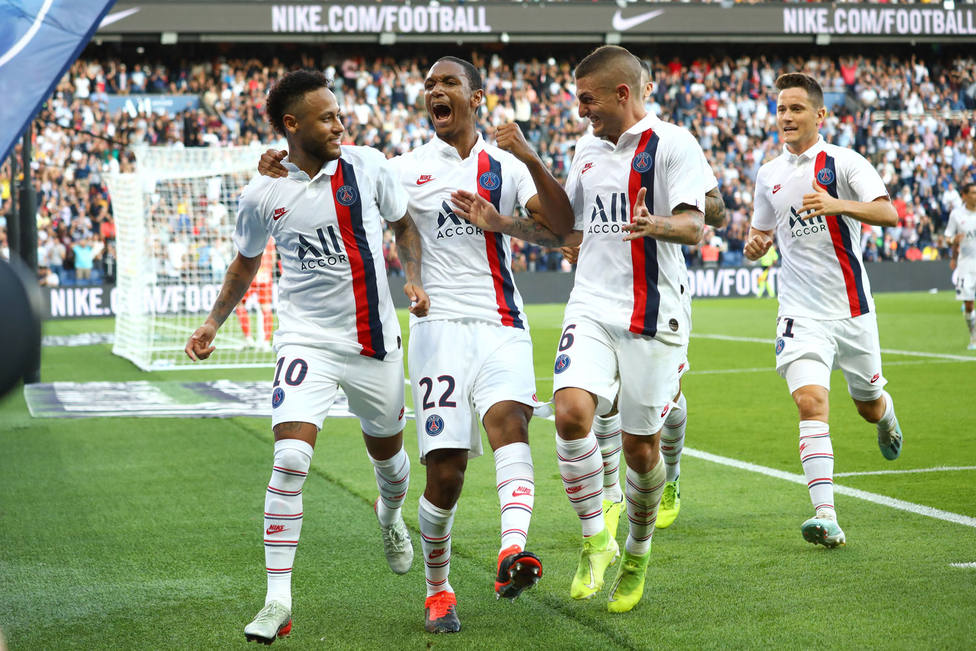 Neymar celebra el gol de la victoria del PSG (EFE)