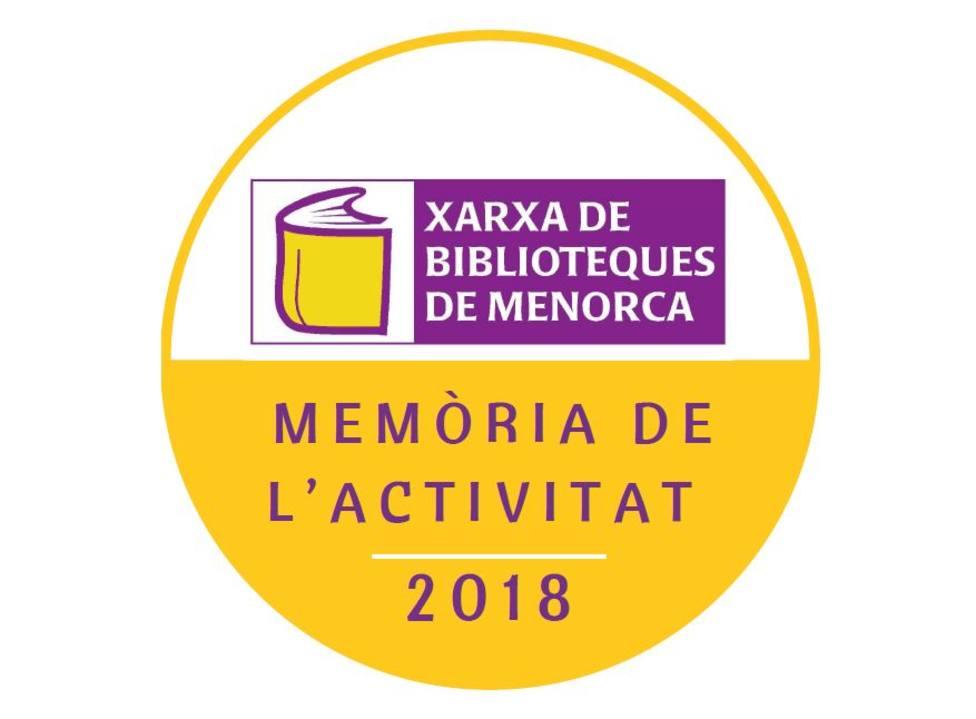 Memoria de la actividad red de bibliotecas 2018