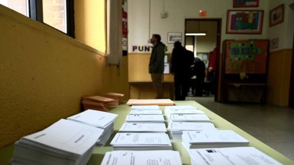 Colegio electoral en Valladolid