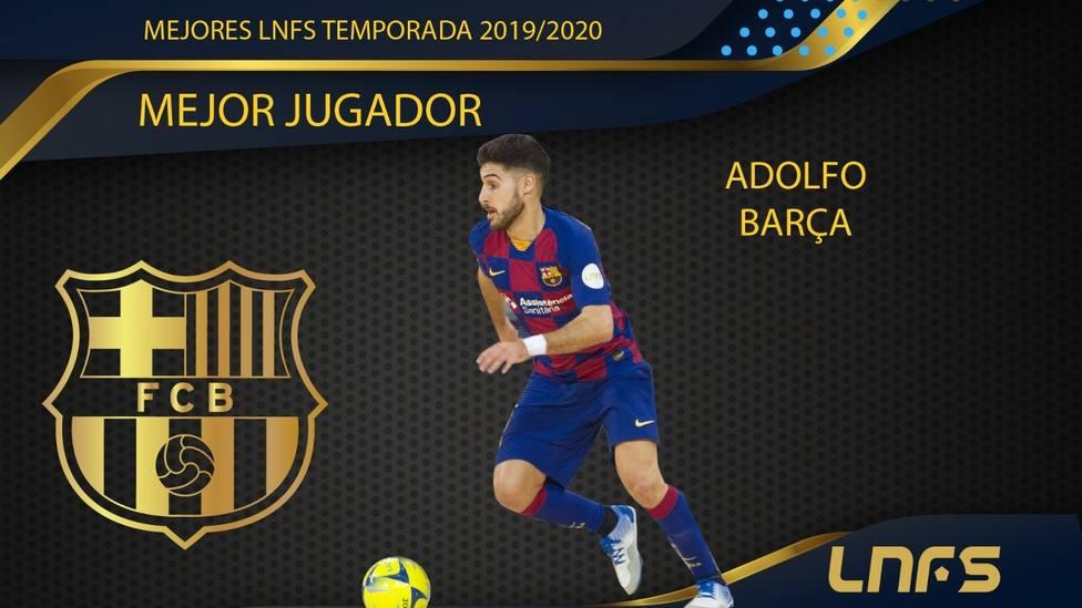 Fútbol sala.- Adolfo, jugador del Barça, Mejor Jugador de la LNFS de la temporada 2019-20