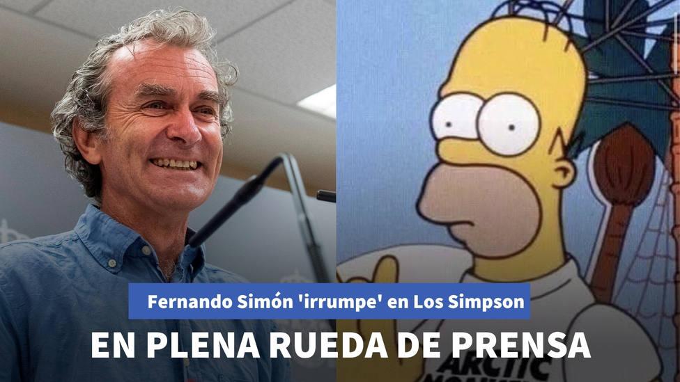 Fernando Simón irrumpe en un capítulo de Los Simpson en plena rueda de prensa