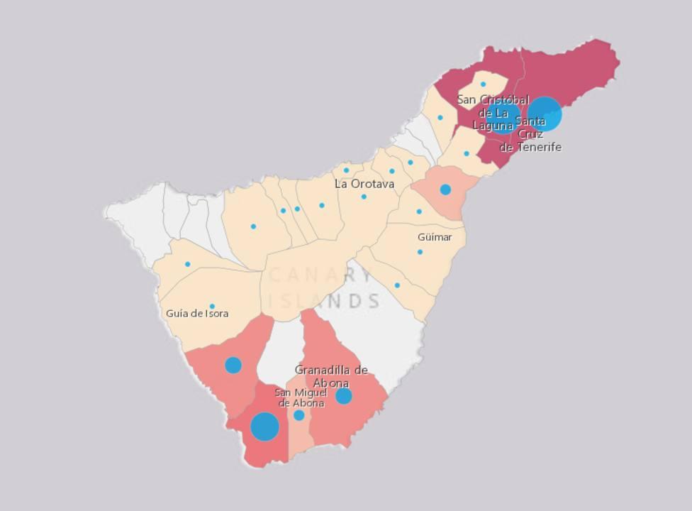 Mapa De Tenerife Municipios.Ocho Municipios De Tenerife Mantienen A Raya Al Virus Tenerife Cope