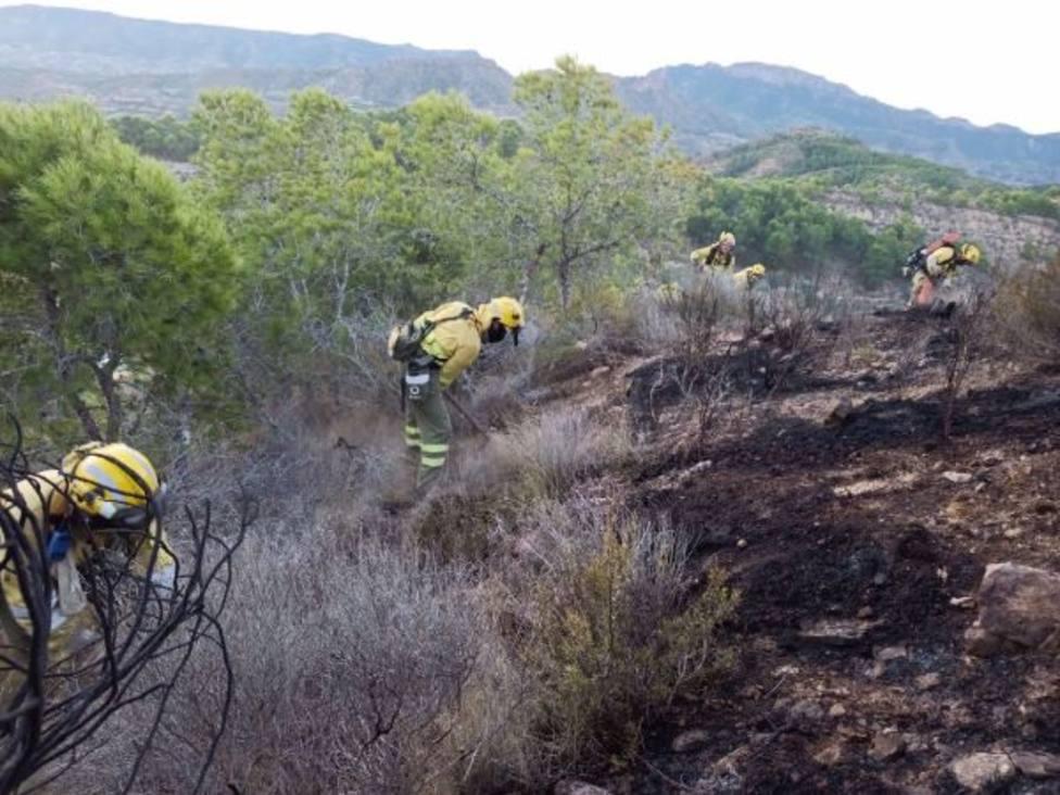 Los bomberos controlan dos incendios forestales en Torreagüera y Sangonera la Verde
