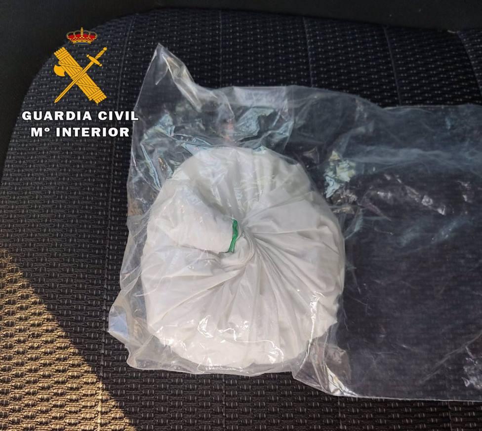 Cocaína aprehendida en Hellín.