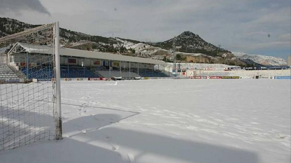 El Collao (Alcoi), cubierto de nieve en una imagen de archivo