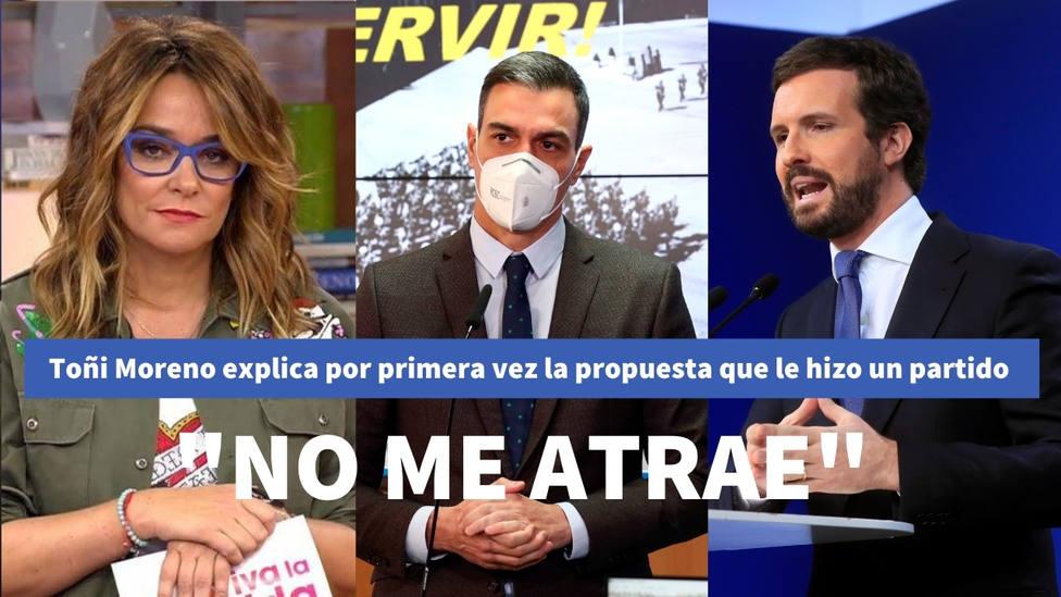 Toñi Moreno explica por primera vez la propuesta que le hizo un partido político: No me atrae