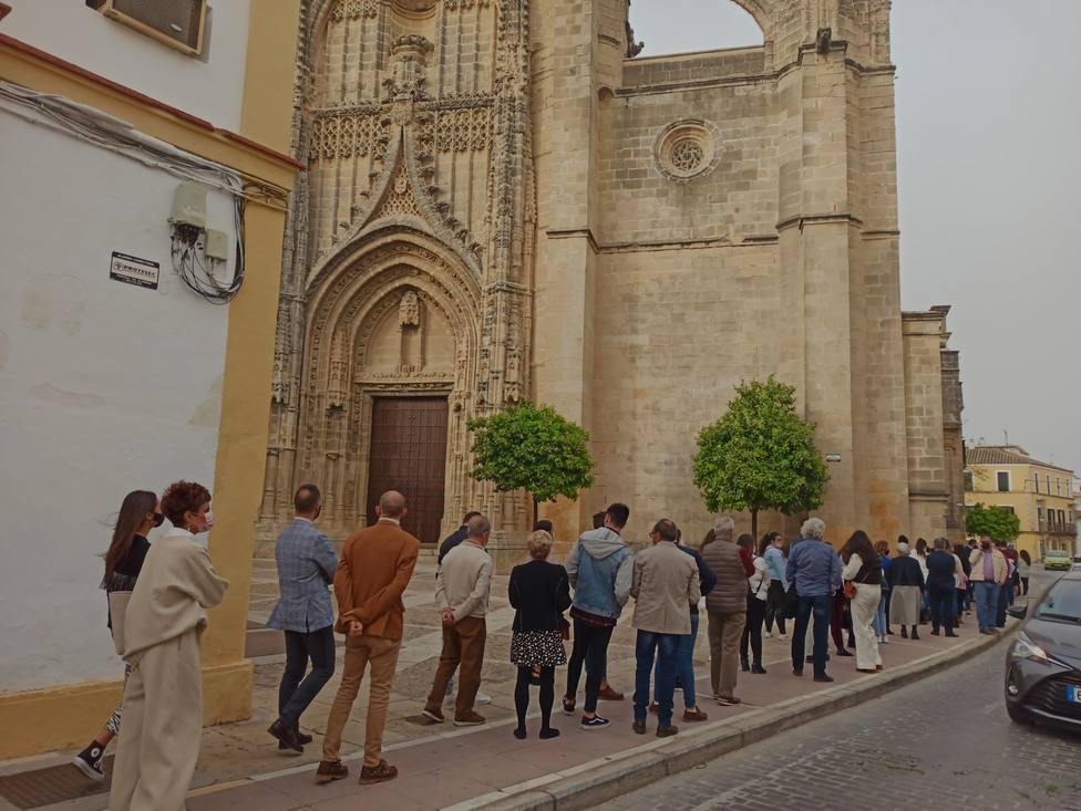 Colas en Santiago el Miércoles Santo de 2021 para visitar al Prendimiento