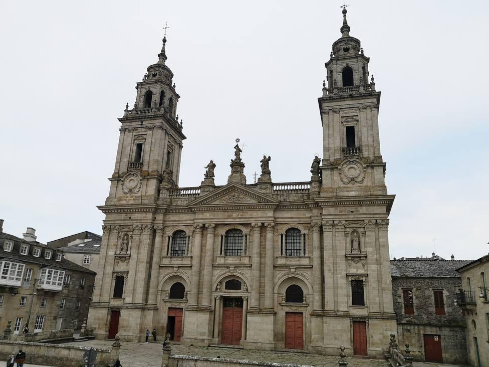 Fachada de la Catedral de Lugo, en la Plaza de Pío XII