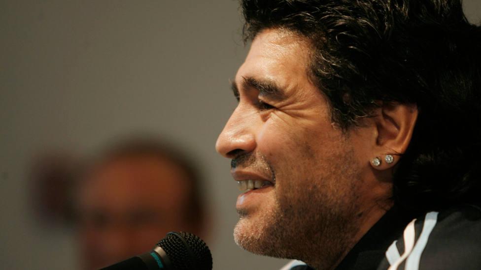 Diego Armando Maradona, durante una comparecencia ante los medios. EFE