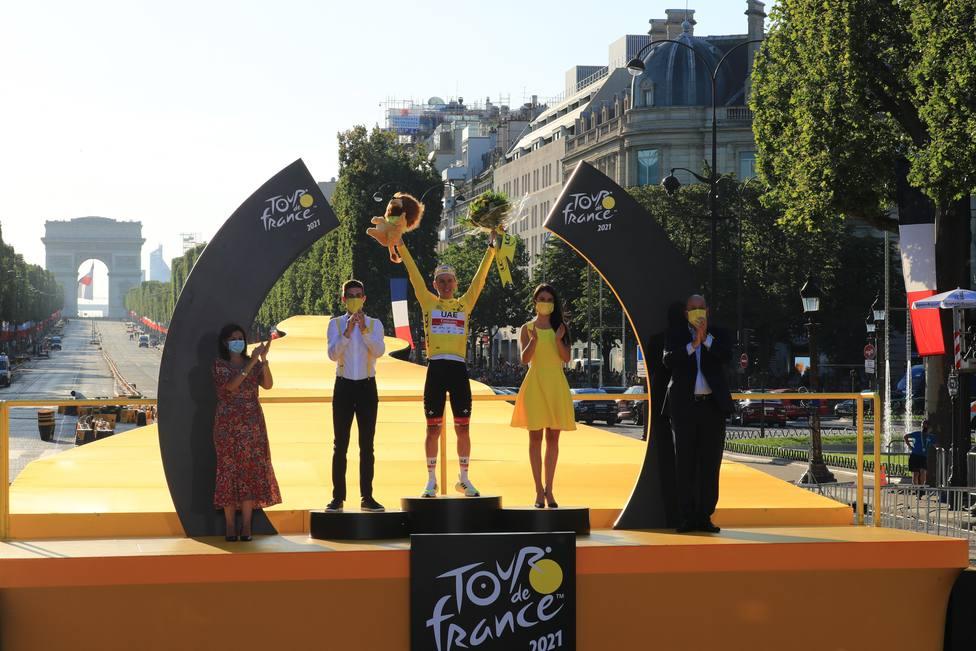 Pogacar se proclama vencedor del Tour en los Campos Elíseos