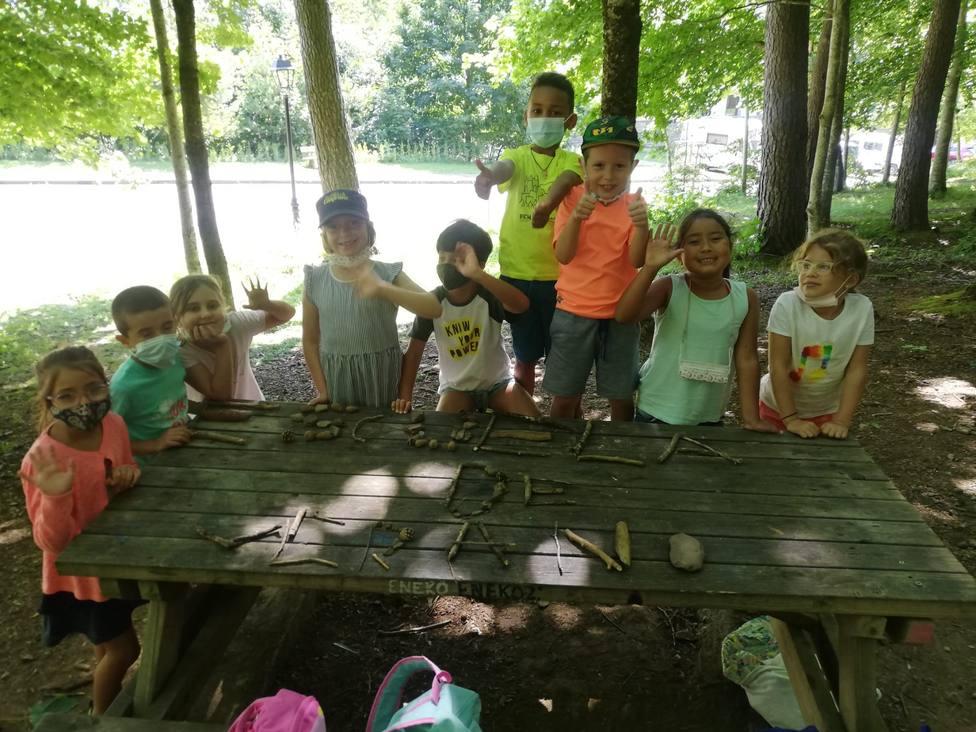 Los niños de la Escuela de Verano de Canfranc