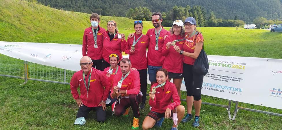 Cinco medallas para Murcia en el Europeo de Trail