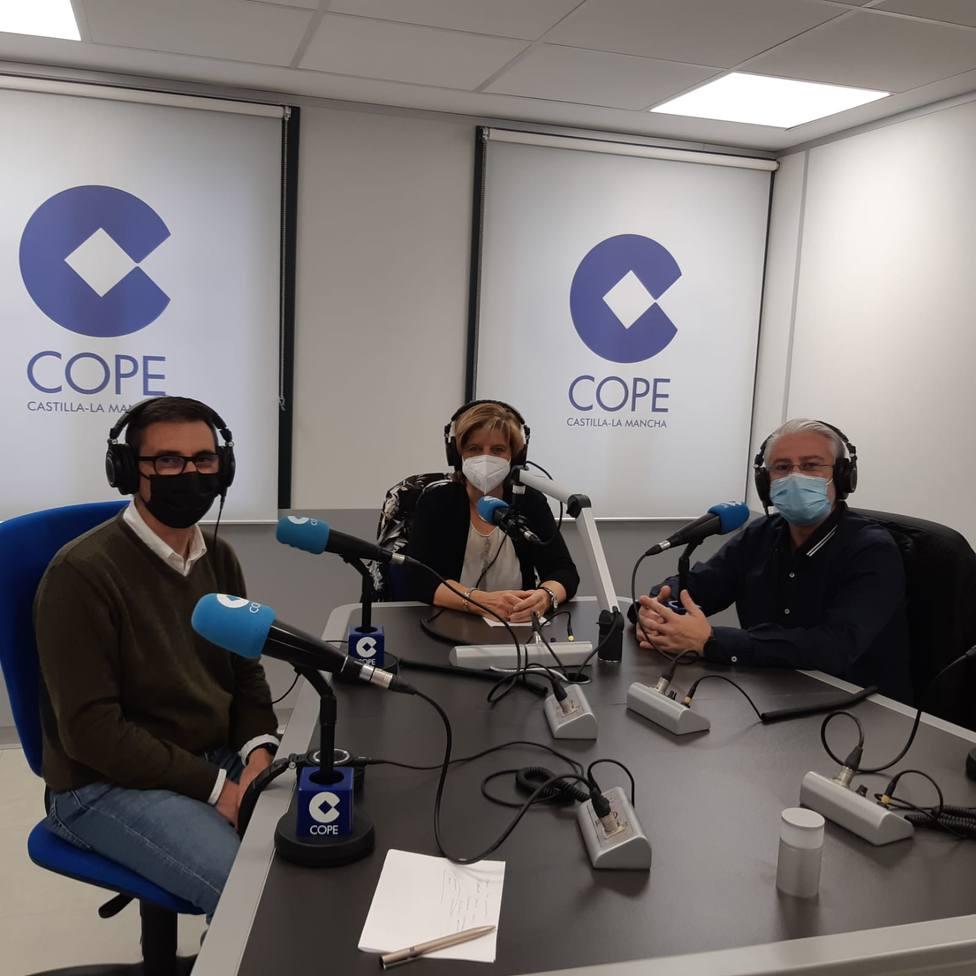 Manuel Gallando, Alejandro Berenguel y Mª Luisa González