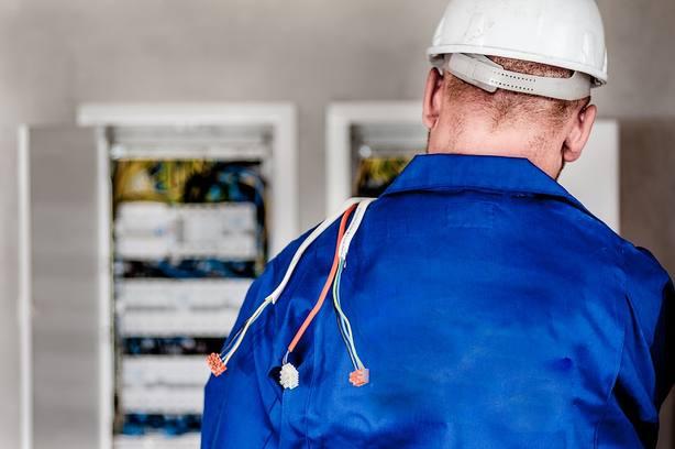 Electricista. Imagen de archivo