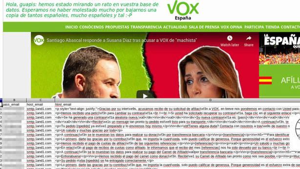 Anonymus deja al descubierto los datos personales de 30.000 simpatizantes de Vox