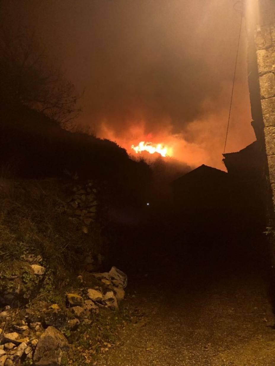 Incendio 3 de enero en Caroi