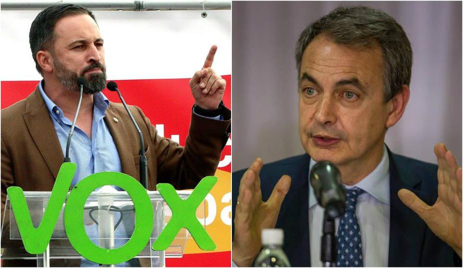 Santiago Abascal envía un mensaje a Zapatero sobre su posible futuro