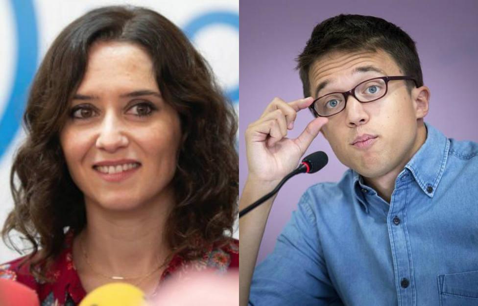 El curioso mote que Díaz Ayuso ha puesto a Errejón tras la polémica en Twitter
