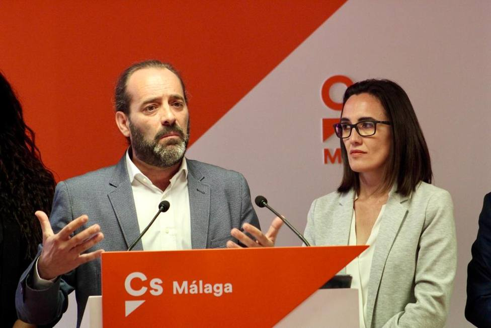 Juan Cassa hoy en la sede de Ciudadanos