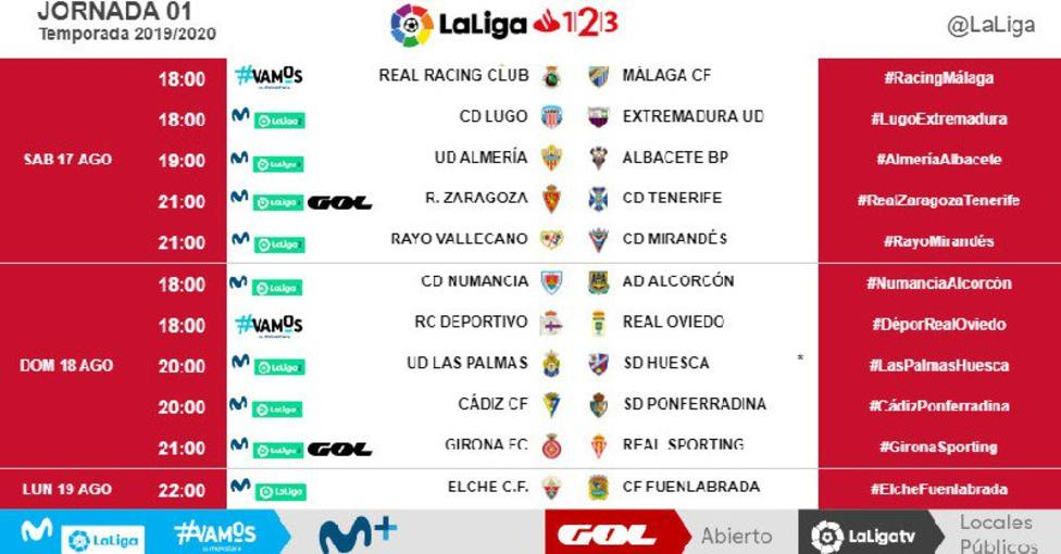 Jornada 1 Liga 123 2018-2019