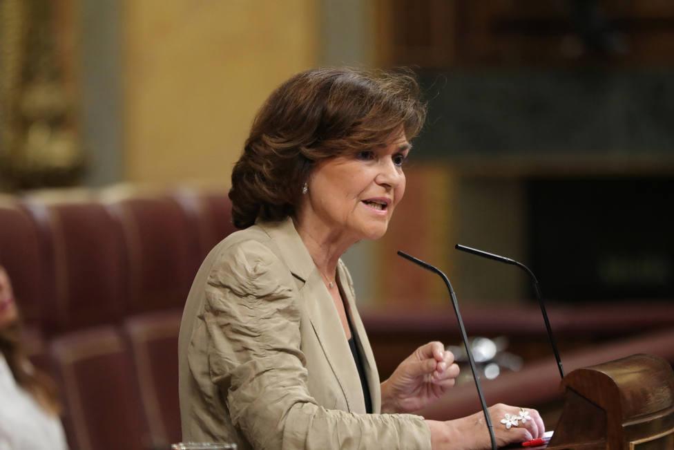 Carmen Calvo niega haber demonizado a las ONG como Open Arms pero defiende que el rescate tiene que ser público
