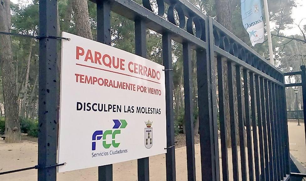 Parque Abelardo cerrado por vientos