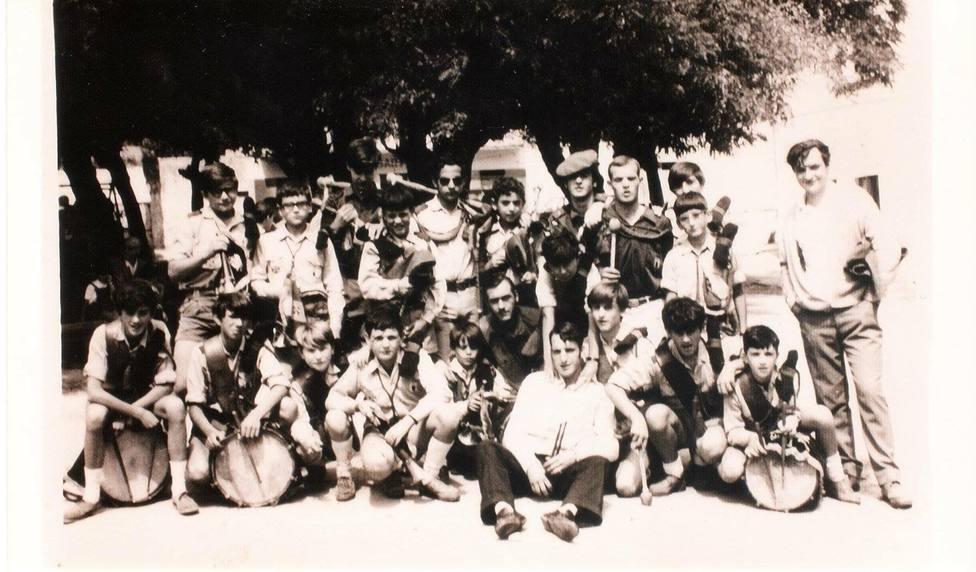 Foto de archivo de los integrantes de la Banda de la OJE - FOTO: Junta de Cofradías de la Semana Santa