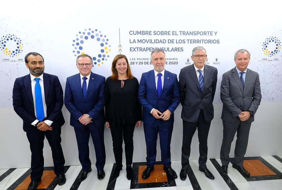 Los representantes de los cuatro gobiernos