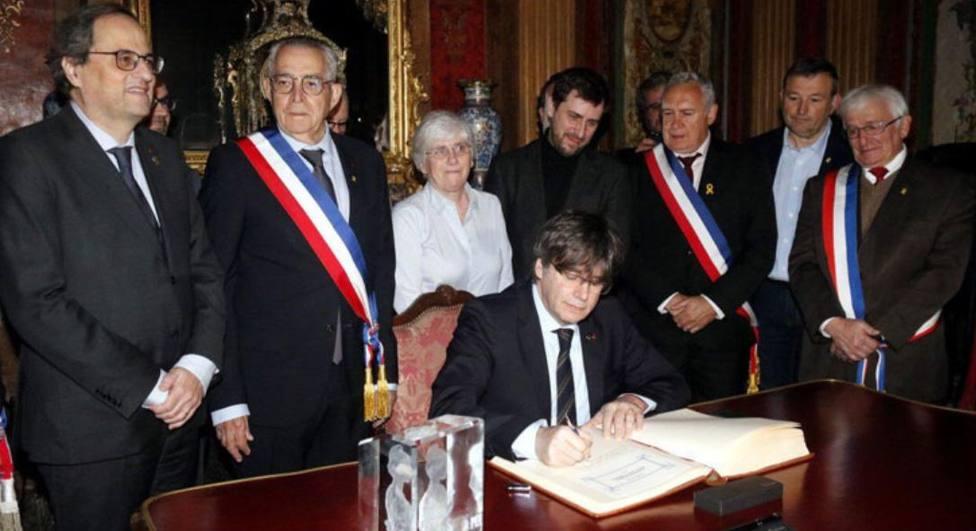 Puigdemont en Perpiñán