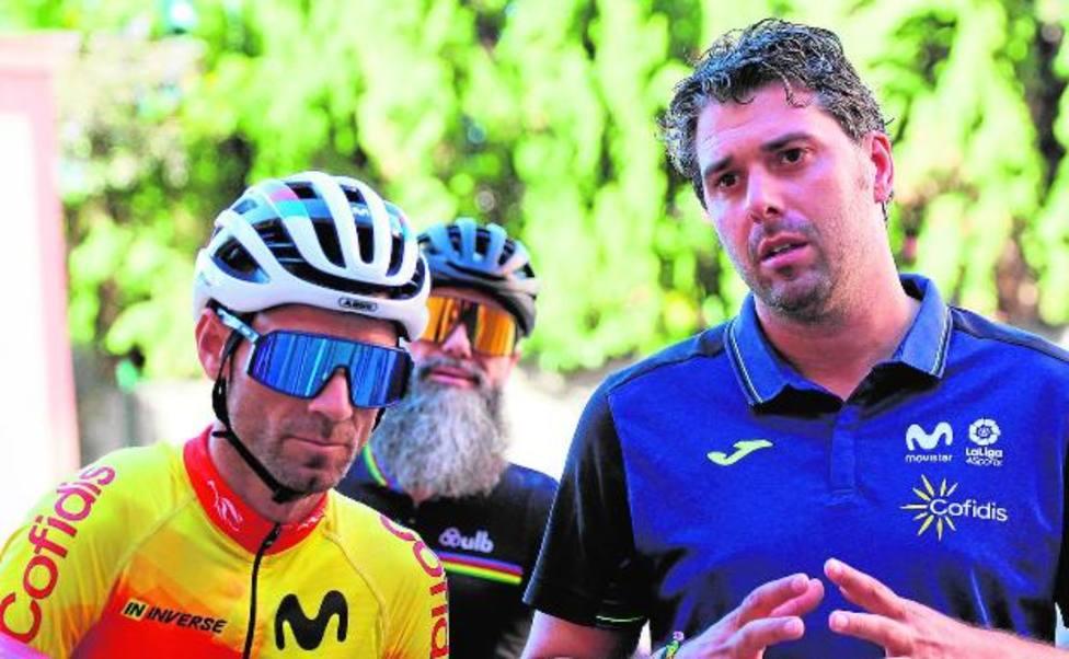 Alejandro Valverde y Pascual Momparler en la concentración de Altea
